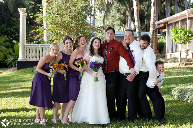 Wedding party at Town Manor in Florida