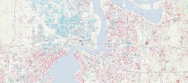 Map Of America By Race.Race And Ethnicity In Urban America Metro Jacksonville