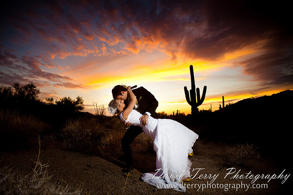 Cactus Desert Bride and Groom