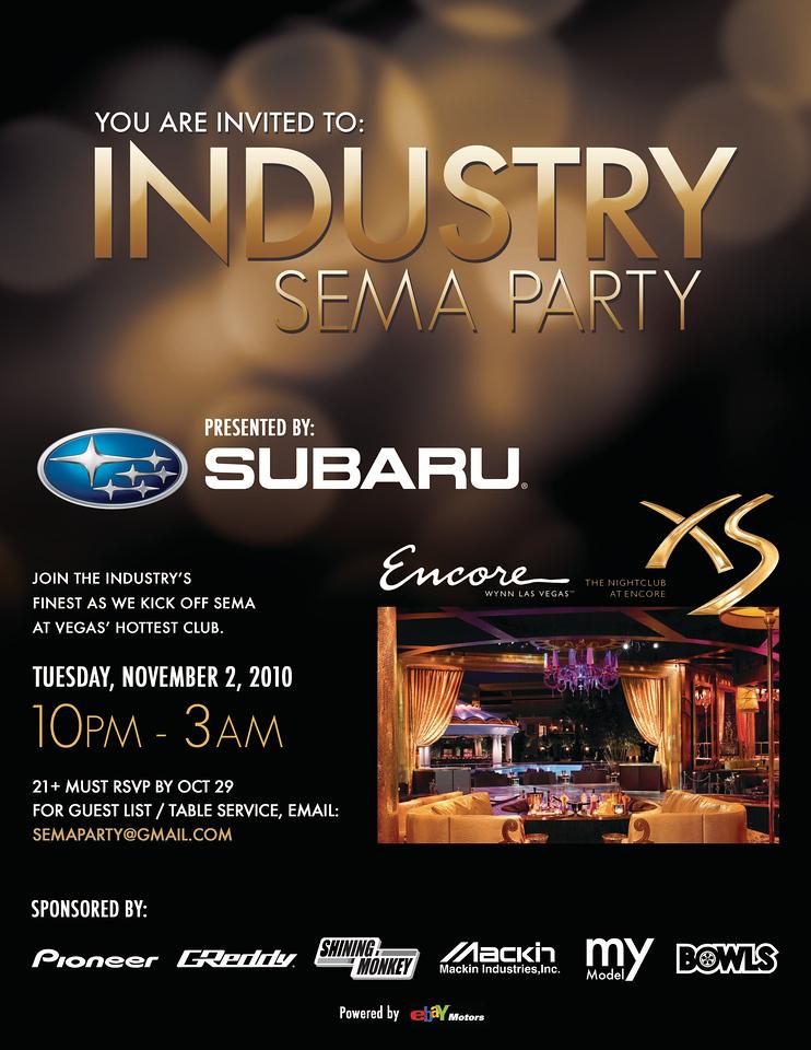 SEMA Industry Party