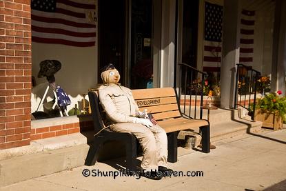 Veteran Soldier Scarecrow, Ackley, Iowa