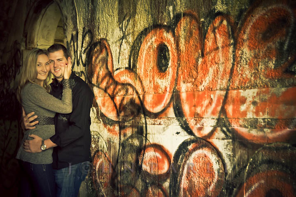 engagements pic near neat graffiti Chicago Joliet Wedding engagement photographer