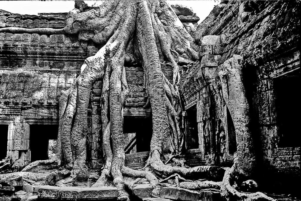 Angkor-Wat-Cambodia-Black-White
