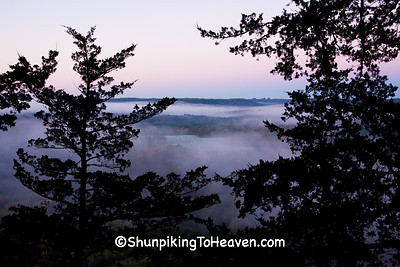 Foggy Dawn on Wildcat Mountain, Vernon County, Wisconsin