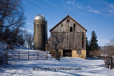 Old Barn in Winter, Iowa County, Wisconsin
