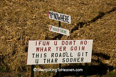 Humorous Roadside Sign, Mitchell County, Iowa