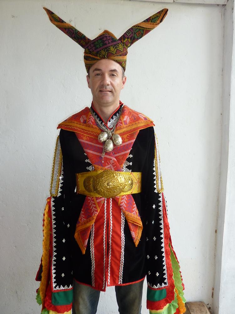 James in Dusun wedding costume