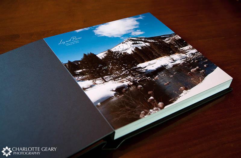 Flushmount wedding album