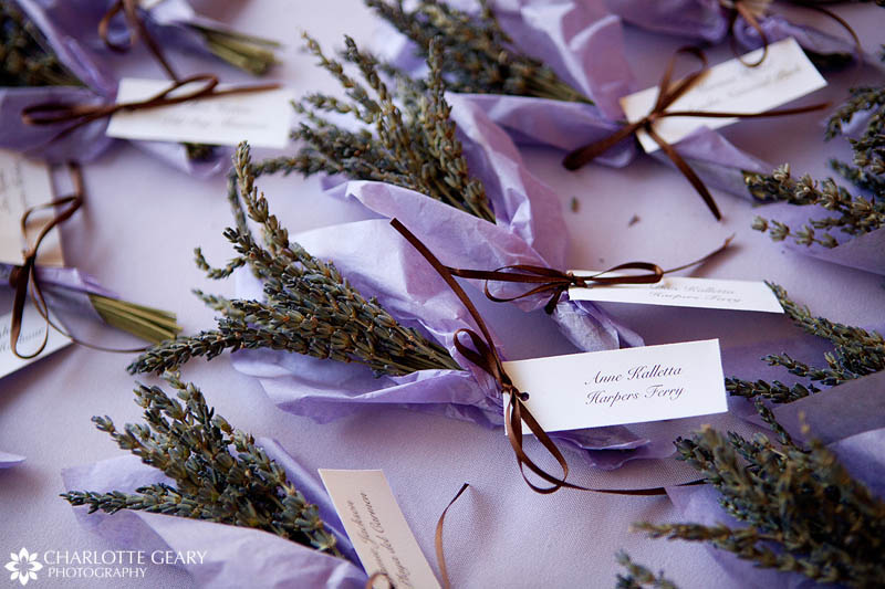Lavender wedding placecards