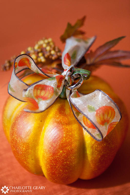 Pumpkin ring pillow