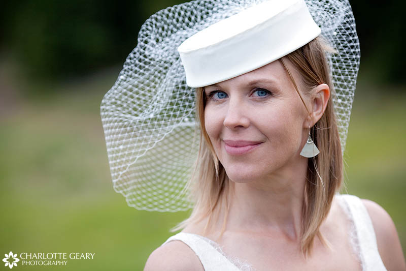 Birdcage veil and hat