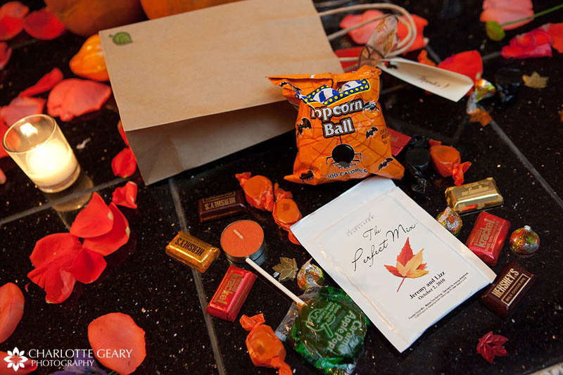 Halloween wedding favor