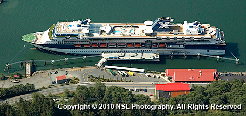 Celebrity Summit docked in Juneau, Alaska, photo by NSL Photography