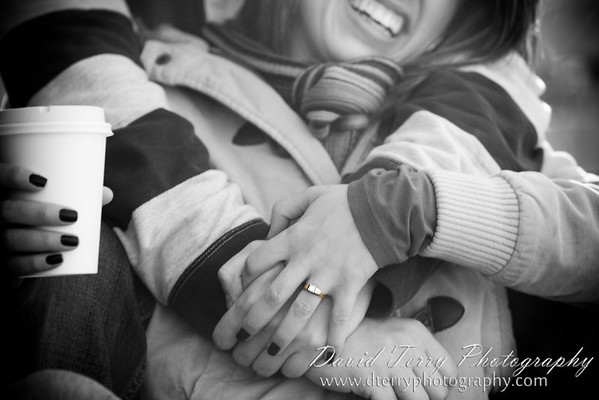 Cory and Mel Winter Engagements Snow Tubing Park City