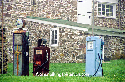 Old Gas Pumps at Warwick Furnace Farms, Chester County, Pennsylvania