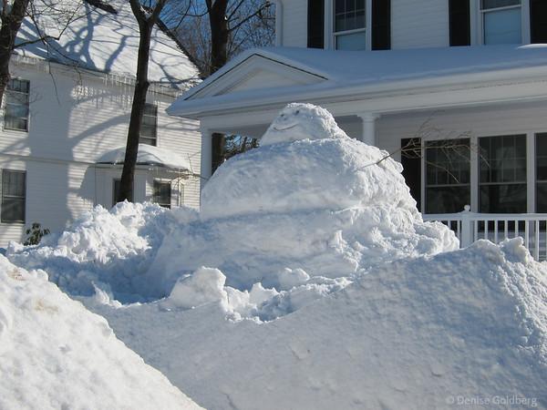 very big snowman