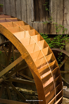 Rusty Overshot Waterwheel, McKinney Mill, Erected 1860, Rutherford County, North Carolina