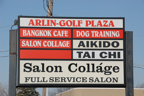 Sign for Arlin-Golf Plaza