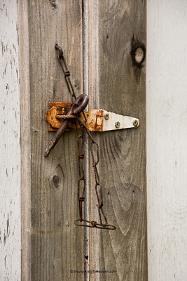 Latch on Outhouse, Saratoga Cemetery, Winona County, Minnesota