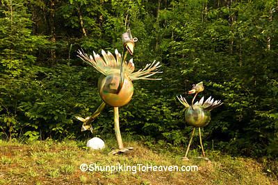 Bird Sculptures, Douglas County, Wisconsin