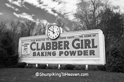 Clabber Girl Baking Powder Sign, Vigo County, Indiana