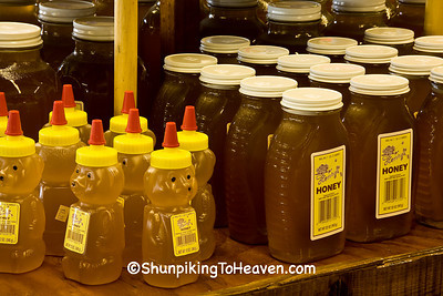 Jars of Honey at Ski-Hi Fruit Farm, Sauk County, Wisconsin