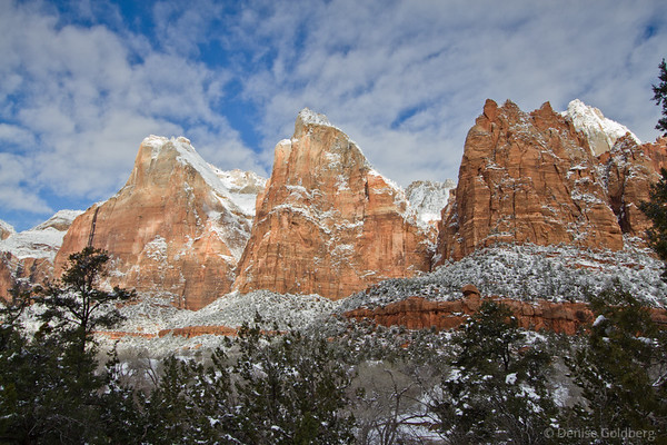 Court of the Patriarchs, Zion National Park, sunshine