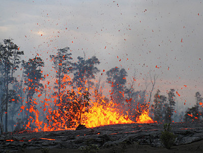 Pu`u `Ō `ō and Napau Crater on Kilauea's east rift zone