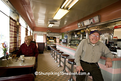 Samuel F. Hatcher (Right) and Kenneth Hoffman (Left) at The Diner, Plainfield, Indiana