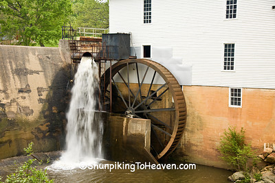 Overshot Waterwheel, Murray's Mill, 1913, Catawba County, North Carolina