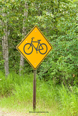 Bicycle Crossing Sign, St. Louis County, Minnesota
