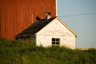 Milk House on Sunny Morning, Juneau County, Wisconsin