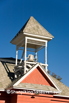 Belltower of Millard Prairie School, Juneau County, Wisconsin