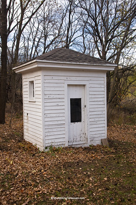 Outhouse at the Hanchett-Bartlett Homestead, Rock County, Wisconsin