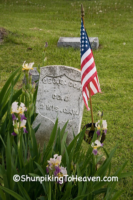 Grave of Civil War Veteran, Jackson Cemetery, Iowa County, Wisconsin