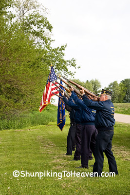 Memorial Day Celebration at Jackson Cemetery, Iowa County, Wisconsin