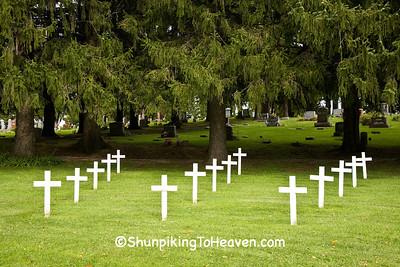 Veterans Memorial, Coon Prairie Cemetery, Vernon County, Wisconsin
