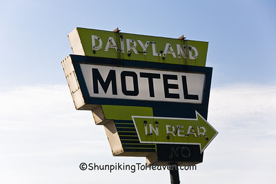Dairyland Motel Sign, Iowa County, Wisconsin