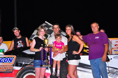 Dowell, Gustin, Floyd, Justin Russell and Jason Russell win at Lake Ozark Speedway