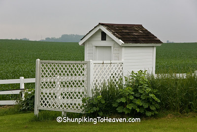 Outhouse at Antioch School, Attended by Artist Grant Wood, Jones County, Iowa