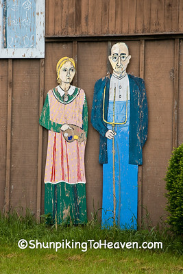 Replica of Grant Wood's American Gothic, Jones County, Iowa