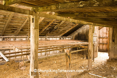 Roosting Bar in Chicken House, Cedar County, Iowa