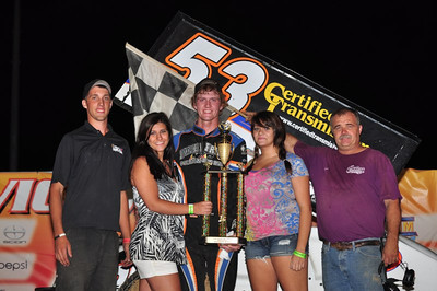 Dover, Crane and Striegel win Central Missouri Manufacture's Night at Lake Ozark Speedway August 27th.