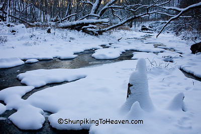 Skillet Creek in Winter, Sauk County, Wisconsin