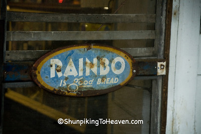 Rainbo Bread Sign at Blevins Grocery, Preston, Kentucky