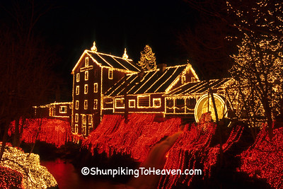 Christmas at Clifton Mill, Built 1869, Greene County, Ohio