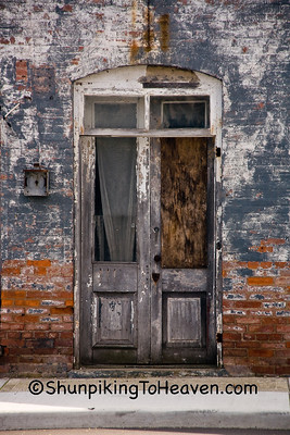 Door of Historic Building on the National Road, Henry County, Indiana