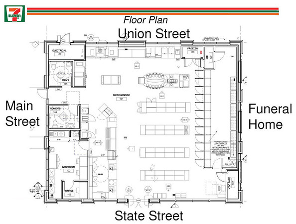 Proposed 7 eleven site plan