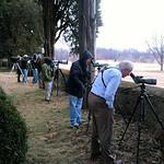 Birders viewing the PFGO