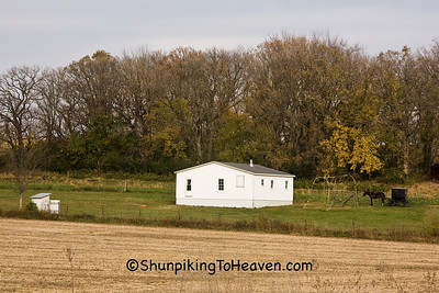 Amish School at Day's End, Filmore County, Minnesota